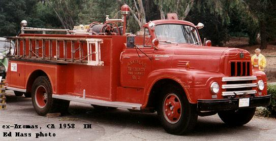 Vintage international howe fire truck