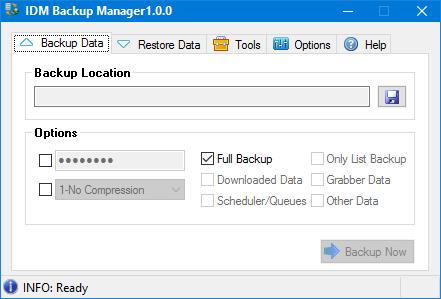 IDM Backup Manager 1.0.0 full