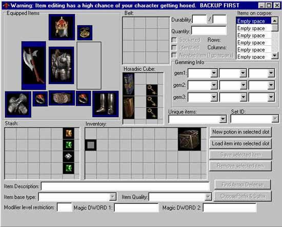 How to use Editer Diablo2