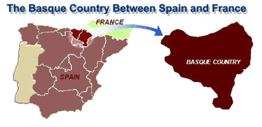 Basque France Map.The Basque Country