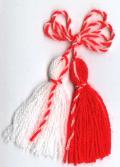 Greeting by the bulgarian martenitza chestita baba marta i wish you a lot of health luck and love and a lot of success to be able to buy the rest you could need m4hsunfo