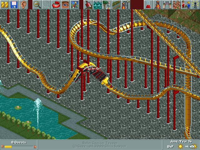rller coaster tycoon how to make an elevated footpath