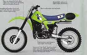 kawasaki 500 modelos de motocross 1981 2003. Black Bedroom Furniture Sets. Home Design Ideas