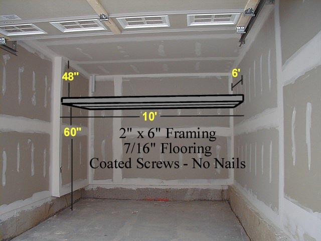 Garage storage lofts by durham deckworks also patio decks for Building a loft in a garage