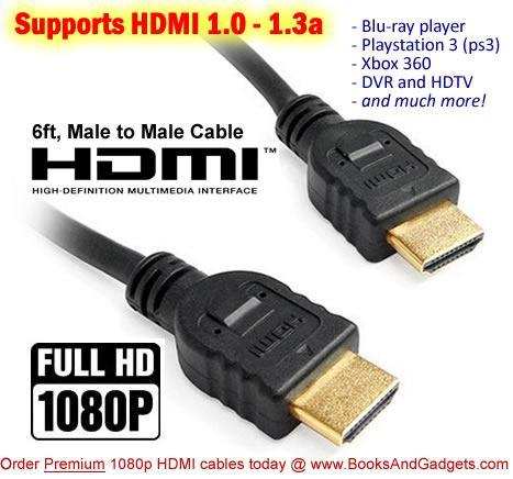 ultimate hdmi cables for playstation 3 xbox 360 blu ray disc player. Black Bedroom Furniture Sets. Home Design Ideas