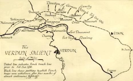 Batalla De Verdun Mapa.Saliente Verdun