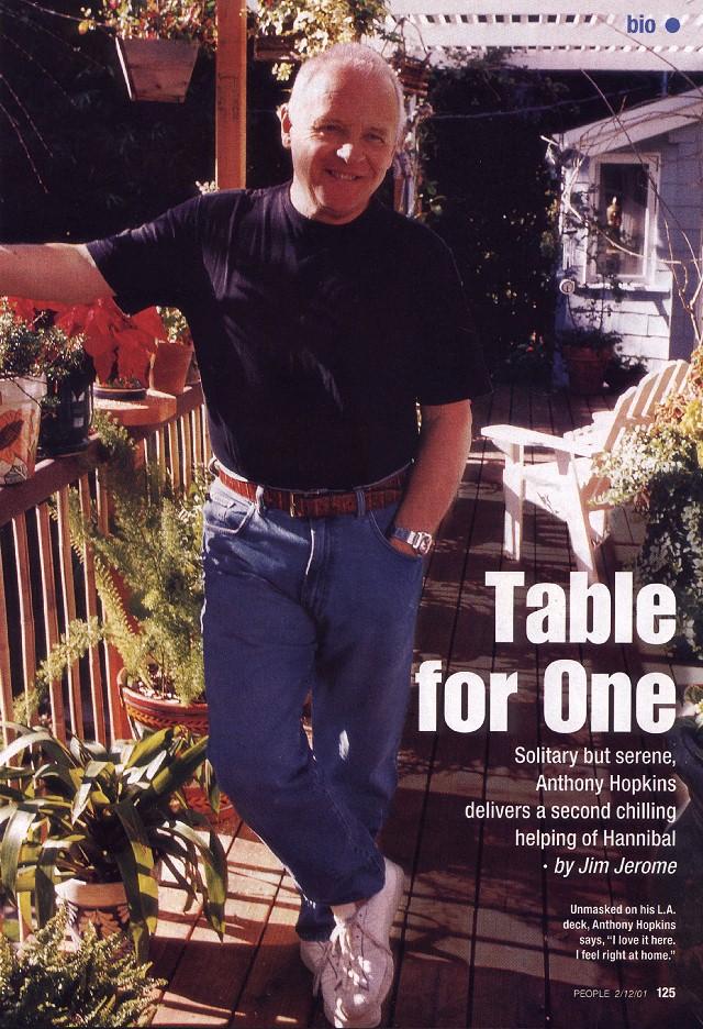 People Magazine (12-Feb-2001): Sir Anthony Hopkins