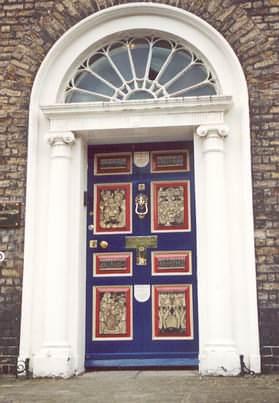 ... Irish door picture Georgian Dublin Door on Merrion Square ... & Doors of Dublin Ireland Vintage Irish Door Posters