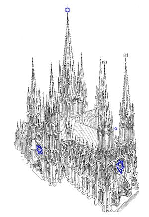 Gothic Synagogue Modelled After A Drawing By Viollet Le Duc