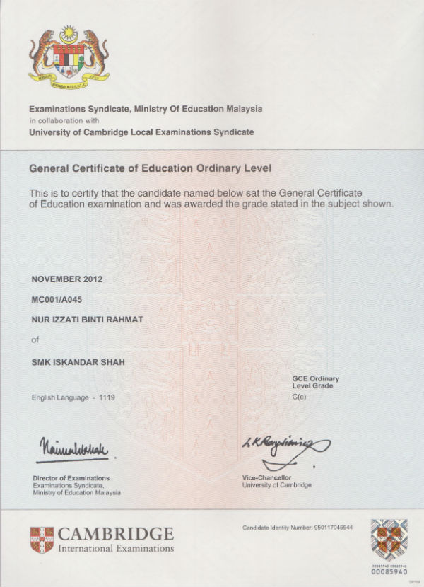 university of cambridge general certificate of University of cambridge international examinations international general certificate of secondary education go to university in cambridge.