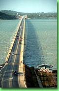 The 1,800-metre-long Tinsulanonda Bridge linking Ko Yo and Songkhla