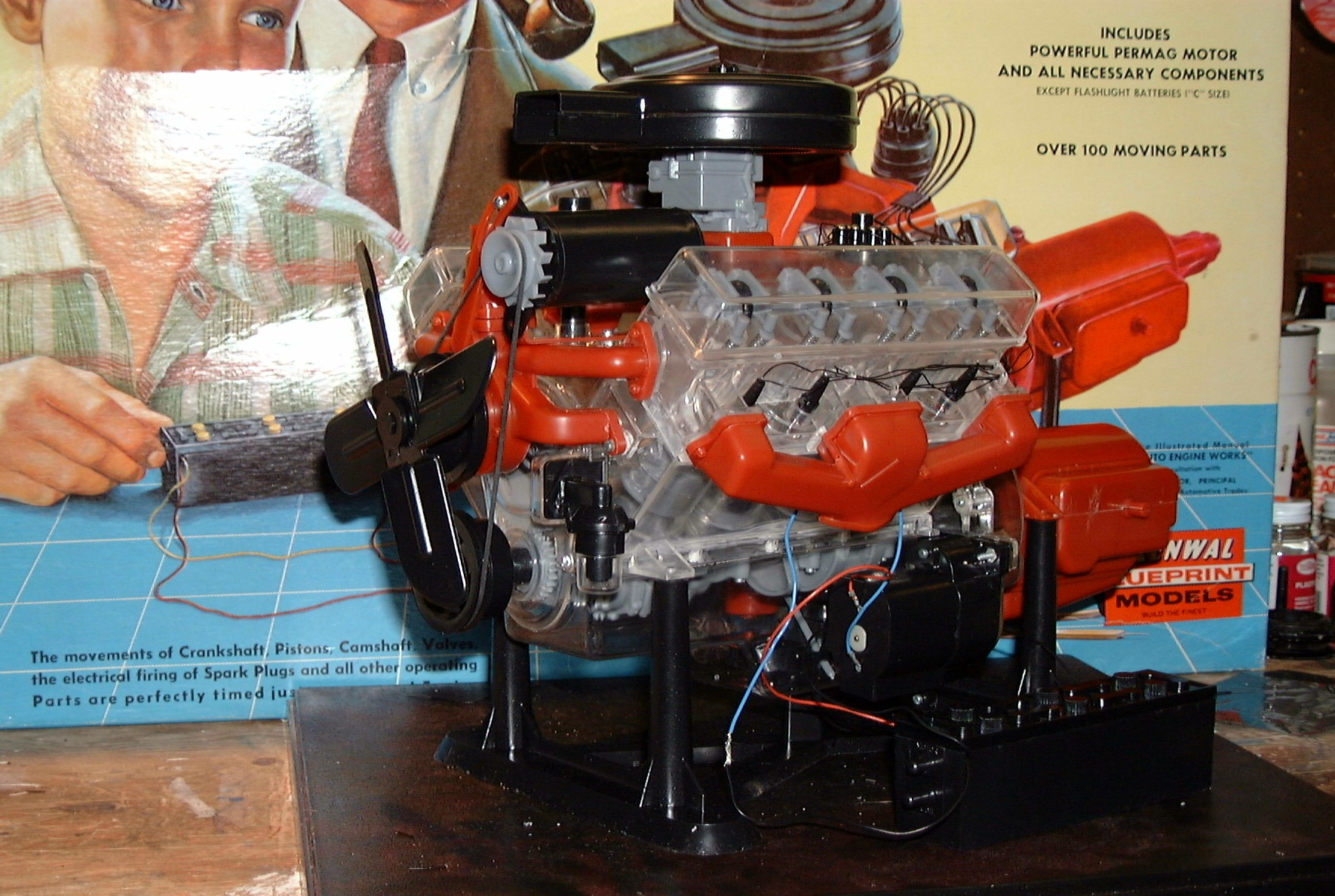 how to make a working lego v8 engine