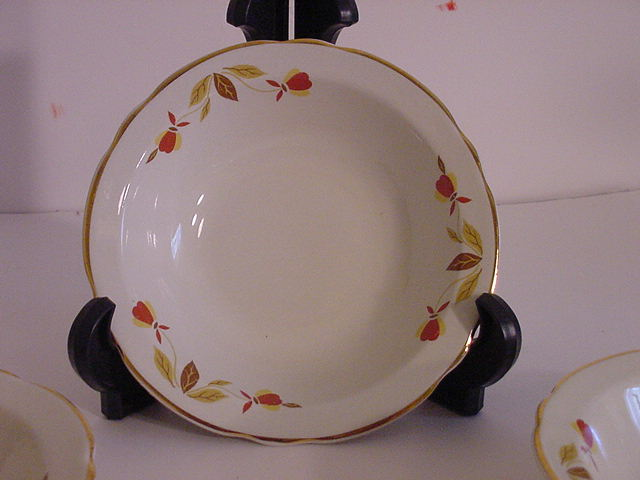 Jewel Tea Autumn Leaf Dinnerware