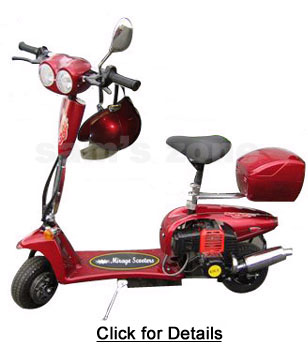 Electric Scooter With Lights Turn Signal Seat Gas Scooters With