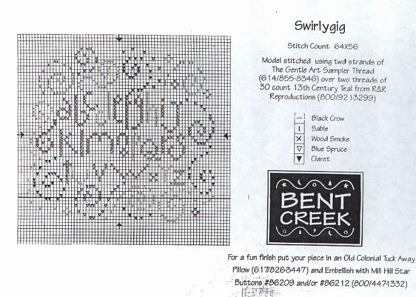 Bent creek cross stitch freebies