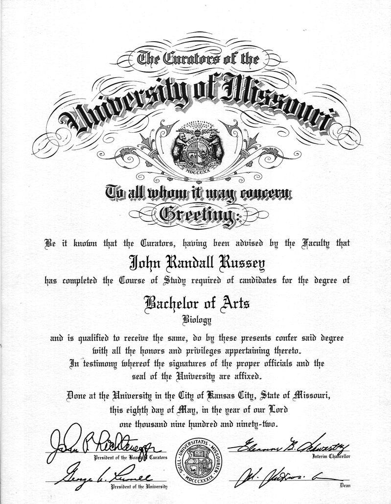 bachelor of biology  umkc