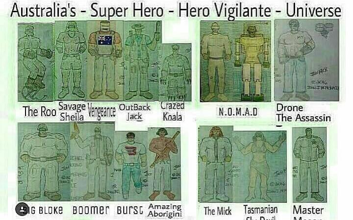 Australian Super Hero - Universe