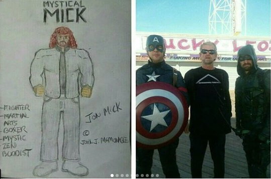 Title: The Mick at UNICEF 5K - Seaside Heights, N.J - with Captain America + The Arrow