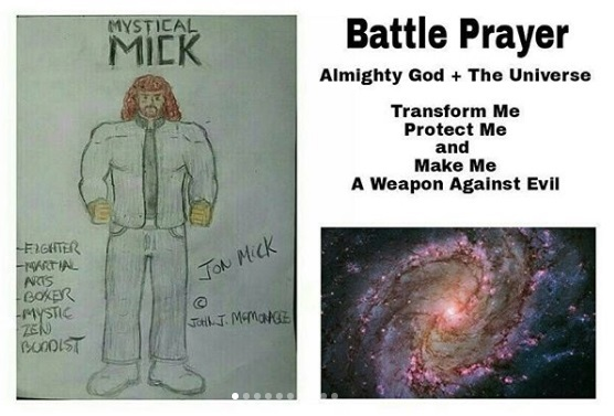 Title: The Battle Prayer of The Mick... And his Battle Cry is