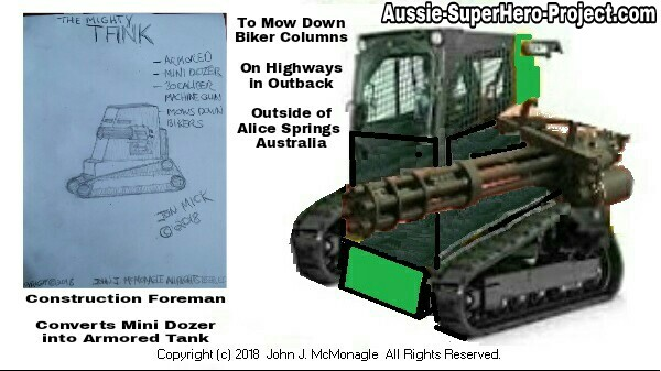 THE MIGHTY TANK - CONVERTED MINI DOZER into ARMORED TANK - PERSONAL COMBAT VEHICLE