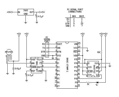 home brew electronic altimeter rh geocities ws  encoding altimeter wiring diagram