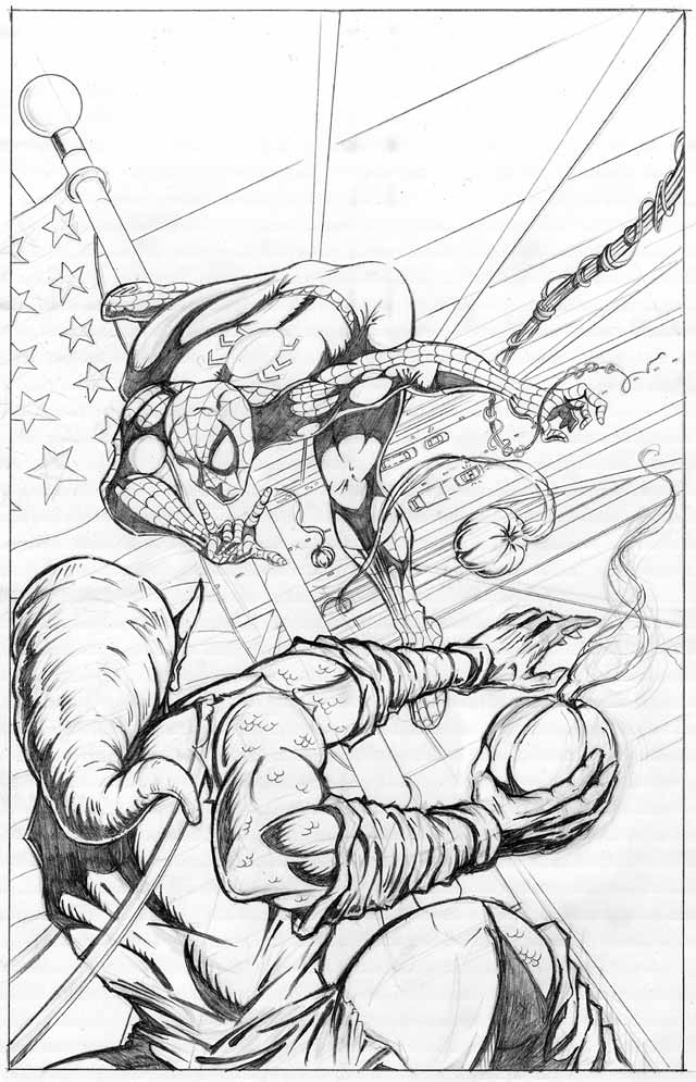 spiderman green goblin coloring pages - photo#15