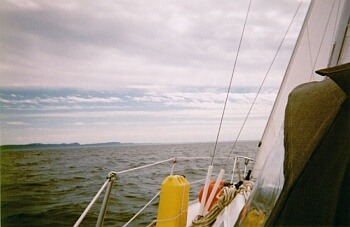 Sailing across Conception Bay