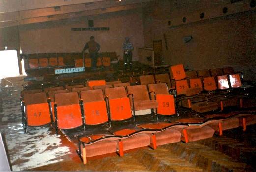 Elokuva teatterin istuimet
