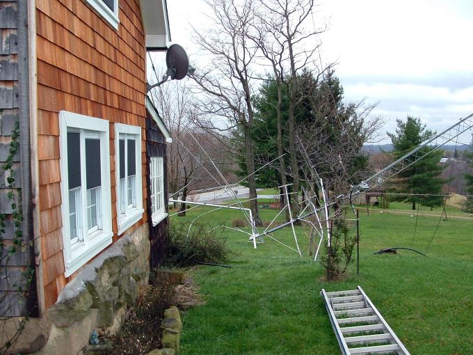 Amateur Radio tower damage K8MN Cameron WV