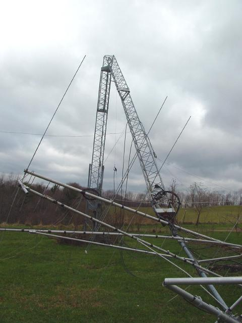 Amateur Radio Tower Damage K8mn Cameron Wv