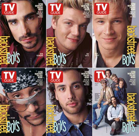 Backstreet Boys TV Guide Collector's Covers Complete Set of 5, May 26-June 2001