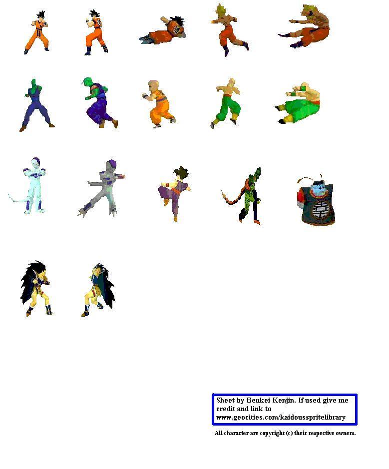 Dragonball Z Budokai Sprites