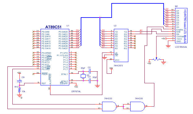 Writing Text On Lcd Module Using 89c51