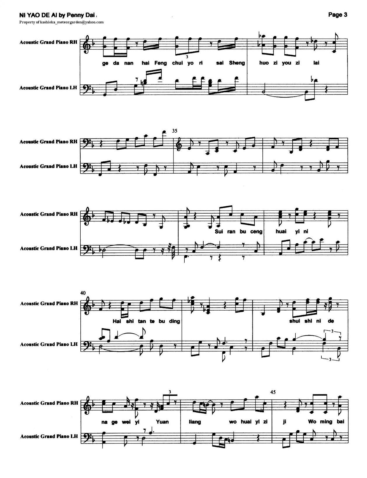 pianoscore
