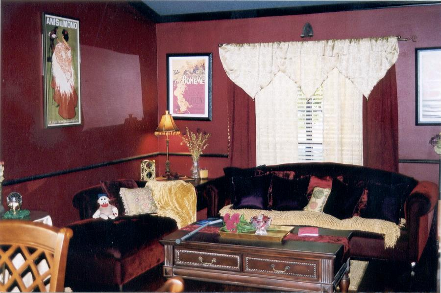 ... Formal Living Room Parlor With Burgundy ... Part 7
