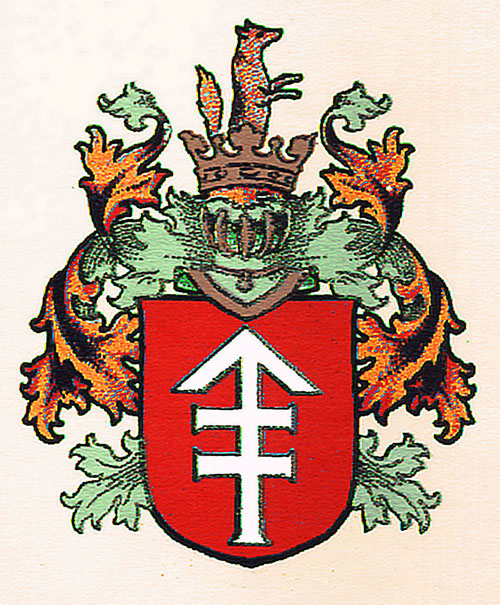 The Fox coat of arms in Belarus and Lithuania maps of Berezino