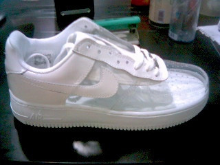 all clear nike air force ones