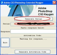 keygen photoshop cs3 activation code