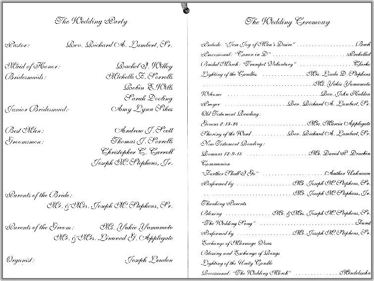 Applegate Stephens Wedding