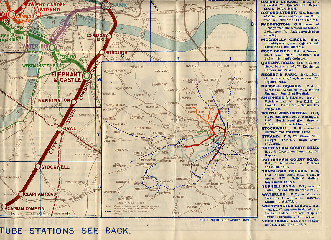Historical London Underground Maps