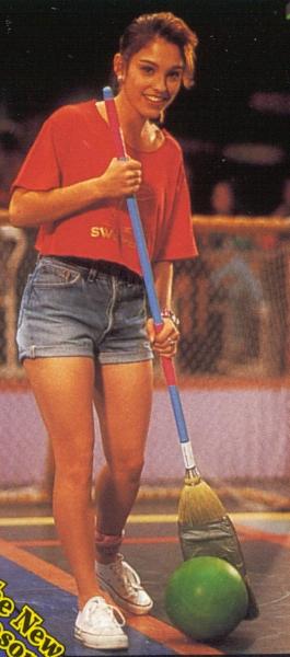 The valuable Amy jo johnson up shorts