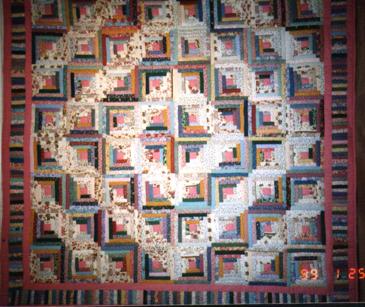 Log Cabin Quilt Picture