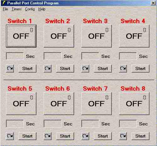 parallel port control circuit