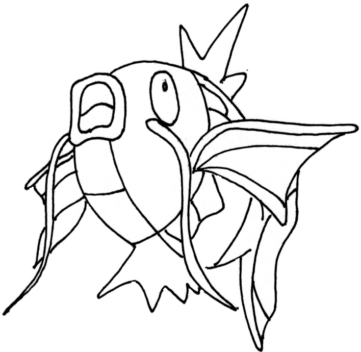 Magikarp Pokemon Coloring Pages