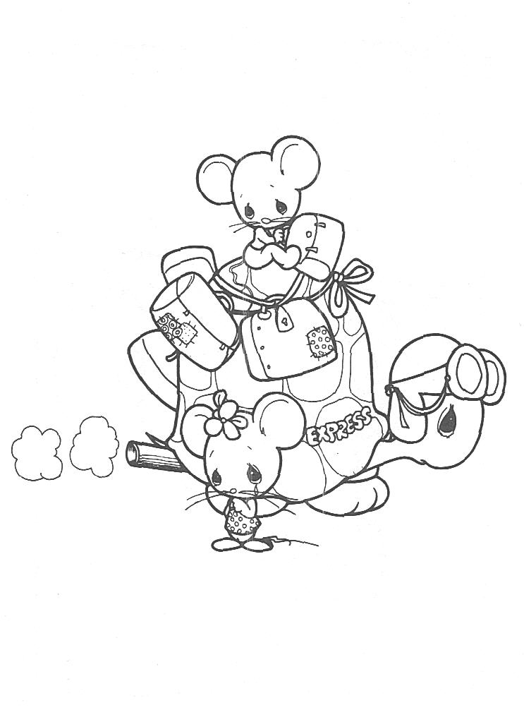 Precious moments animals for Precious moments baby coloring pages