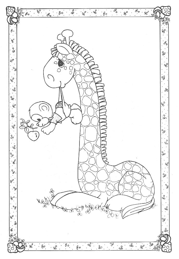 precious moments giraffe coloring pages precious moments animals