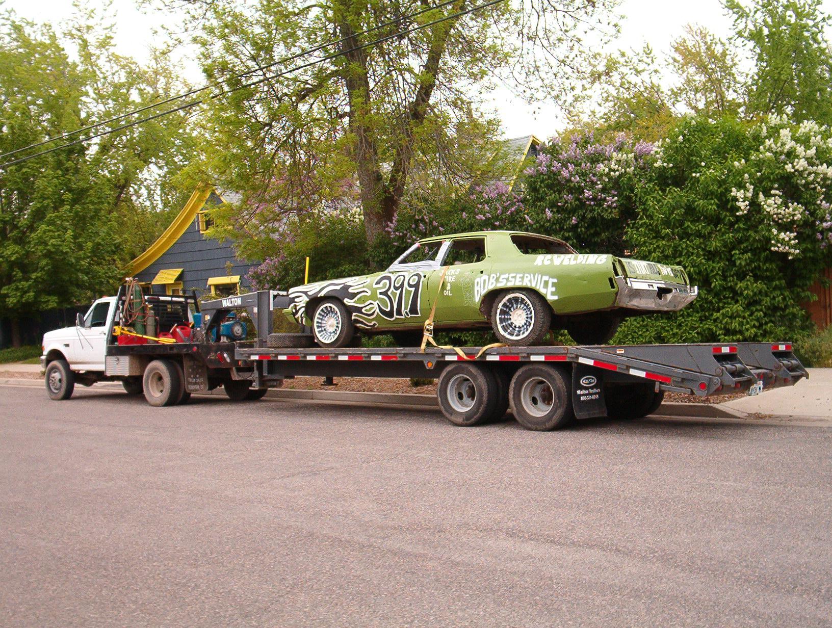 Building Demolition Derby Car : The real demolition derby cars