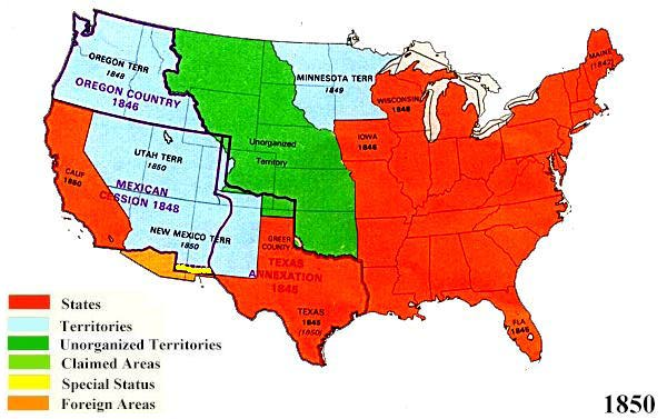 territorial expansion 1800 1850 Find a summary, definition and facts about the westward expansion timeline for  kids  1841-1850: westward expansion  westward expansion timeline fact 2:  1800 - cities and travel - the towns and cities increased and  road began in  maryland and stretched 600 miles into the northwest territory.