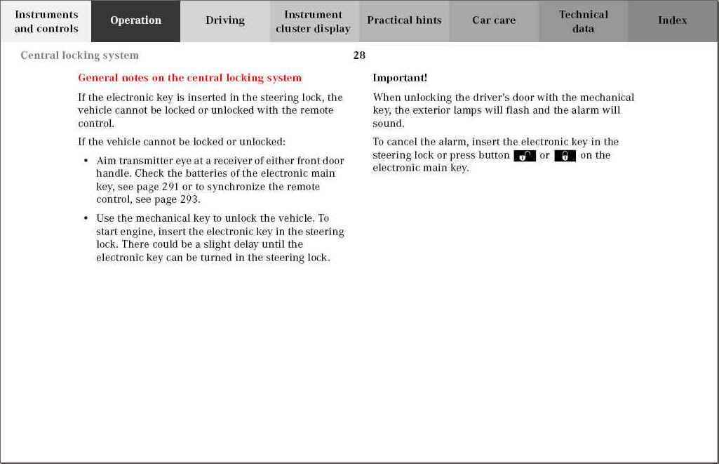 nippon central locking system manual