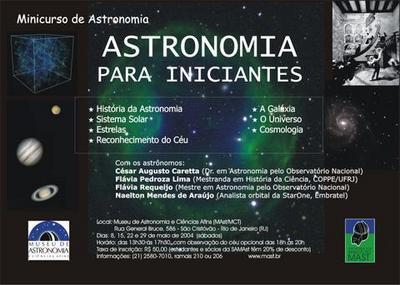 Cursos de astronomia gratis